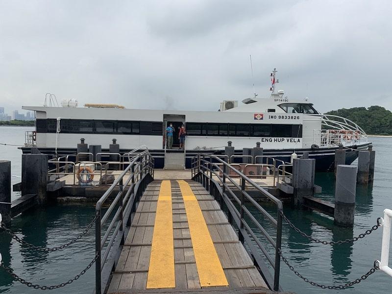 Ferry to Marina South Pier