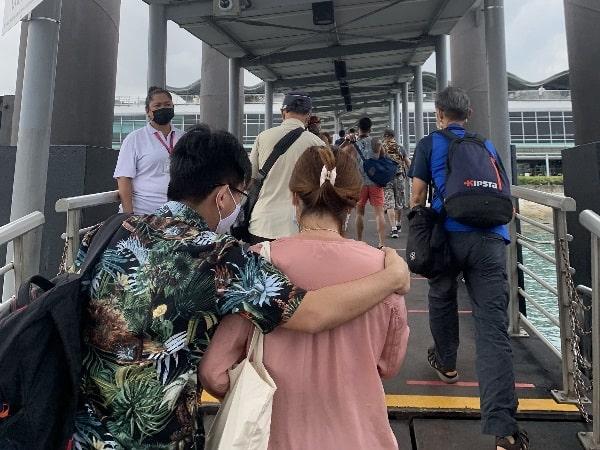 Arrival Marina South Pier