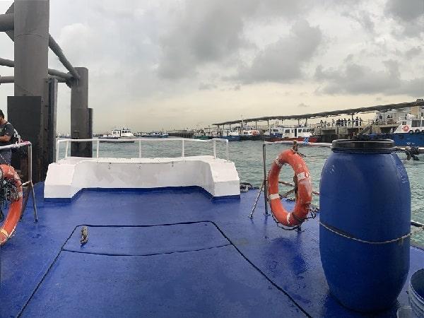 Ferry to St John Island Deck