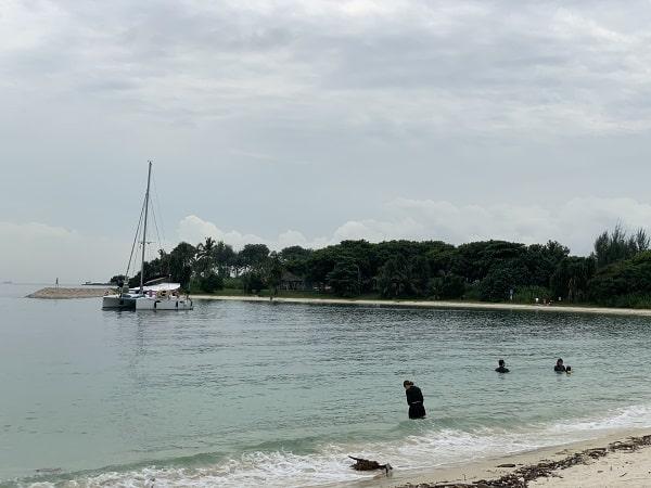 Swimming at Lazarus Island