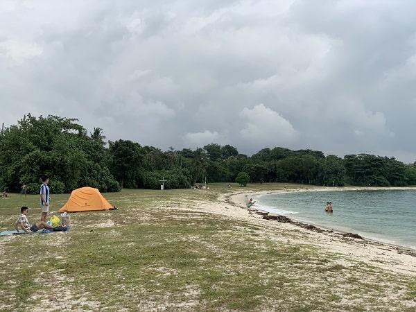 Camping at Lazarus Island