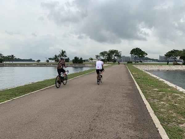 Cycling at Lazarus Island