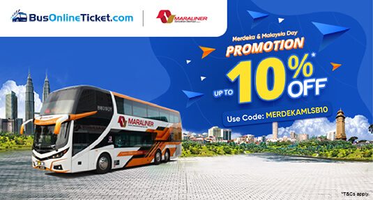 MARA Liner bus ticket 10% OFF